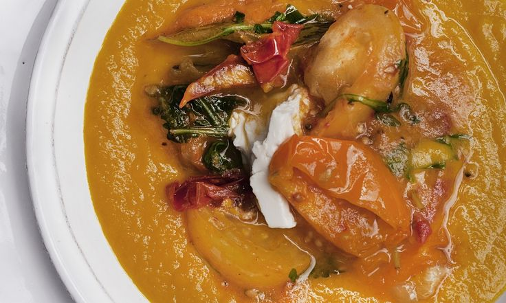 A rich soup brimming with flavour is more than a meal in itself. From a vivid carrot soup to a purée of chicken and butter beans, here are three super bowls to try. By Nigel Slater