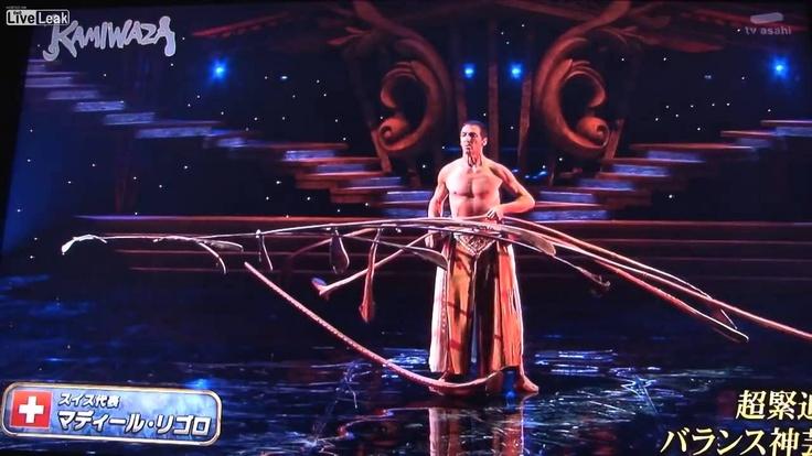Impressive stick balancing on japanese tv-show 2013 (HD), via YouTube. awesome
