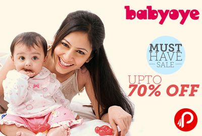 #Babyoye brings Must-Have Sale, Get UPTO 70% off on all Products.http://www.paisebachaoindia.com/get-upto-70-off-on-all-products-in-must-have-sale-babyoye/