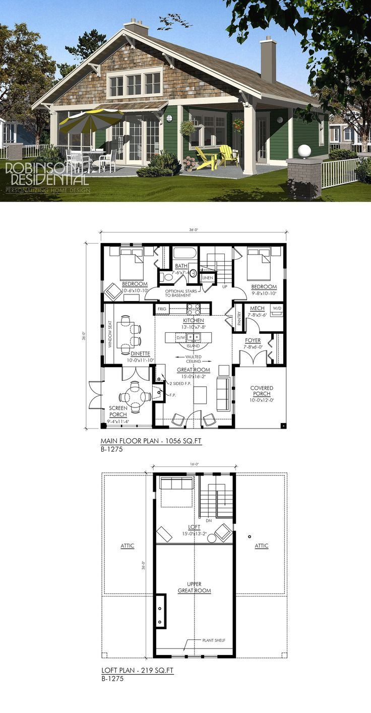 1275 sq. ft, 2 bedrooms, 1 bath.