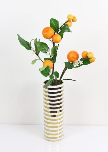Artificial Orange Branch With White Blossoms 33 Tall Timberline