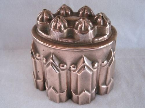 Antique Victorian Copper Jelly Jello Mould Mold Tin