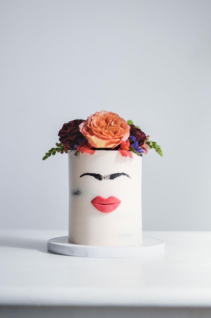 Frida Kahlo Fresh Floral Cake by LionHeart