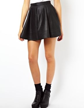 Nab Taylor's look as seen below with this leather skirt from ASOS!  http://thewalkblog.tumblr.com/image/66197287207