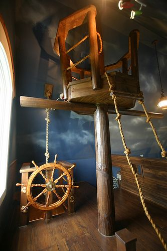 boys' pirate ship bedroom: Ideas, Pirate Ships, Pirates, Dream, Bedrooms, Boys Room, Kids Rooms