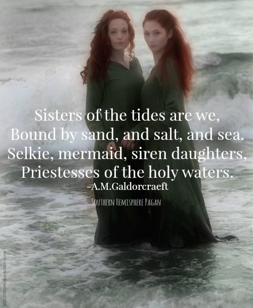"""Sea Witch: #Sea #Witches ~ """"Sisters of the tides are we, Bound by sand, and salt, and sea. Selkie, mermaid, siren daughters. Priestesses of the holy waters."""" ---A. M. Galdorcraeft."""
