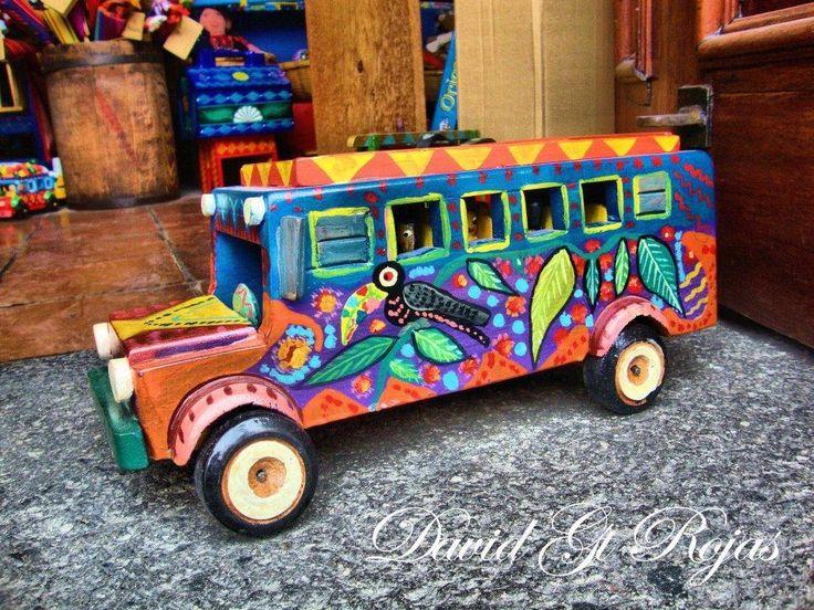 Super colorful #Chicken #Bus #handcraft from #Guatemala @DaveRojasLGt.