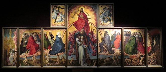 Le Jugement dernier, Rogier van der Weyden, polyptique ouvert avec le Christ en juge suprême - 1443-1452