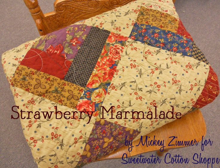 Moda Bake Shop: Strawberry Marmalade Quilt (jelly roll/charm pack)