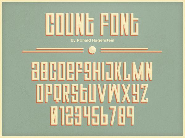 Count Font (Handmade) by Ronald Hagenstein, via Behance