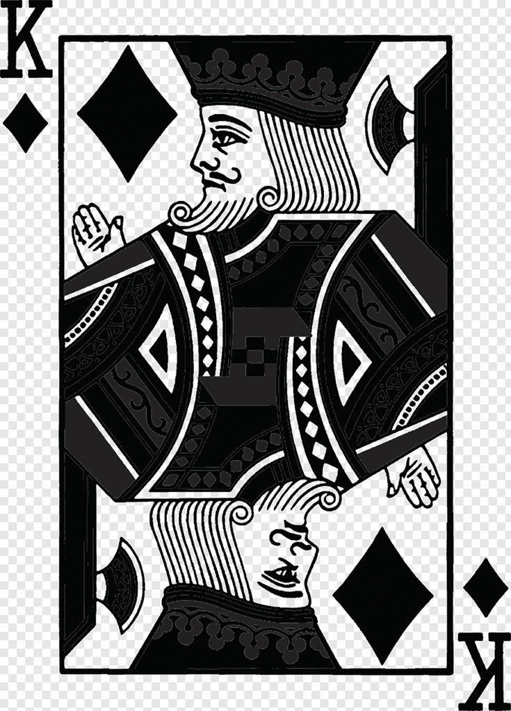King of diamond illustration, Tshirt King Playing card