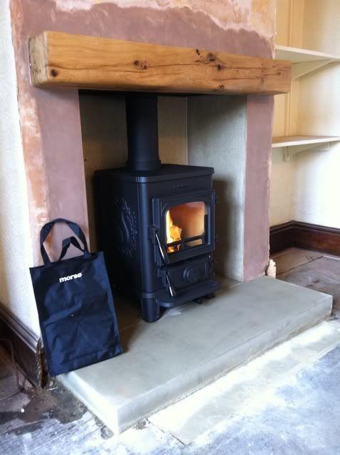 Love The Oak Mantel Shelf Stove Fireplace Pinterest