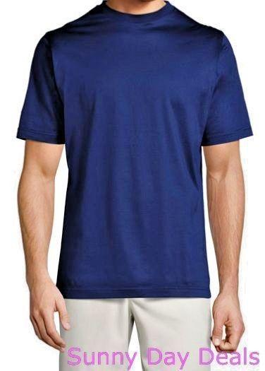 Peter Millar Mens T-Shirt Cotton Short Sleeve Solid Knit Navy Blue Tee Casual XL #PeterMillar #Crew