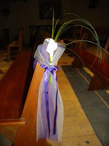 Les fleurs à l'Eglise
