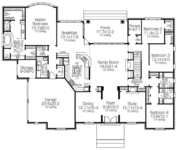Floor Plans Aflfpw12038 2 Story Traditional Home With 4