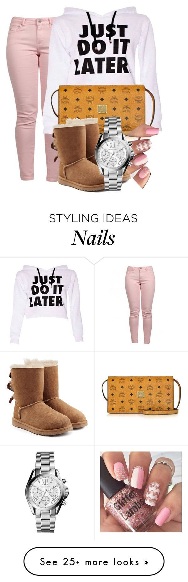 """""""Untitled #309"""" by yungmyapiez on Polyvore featuring Maison Scotch, MCM, INDIE HAIR, UGG Australia and Michael Kors"""