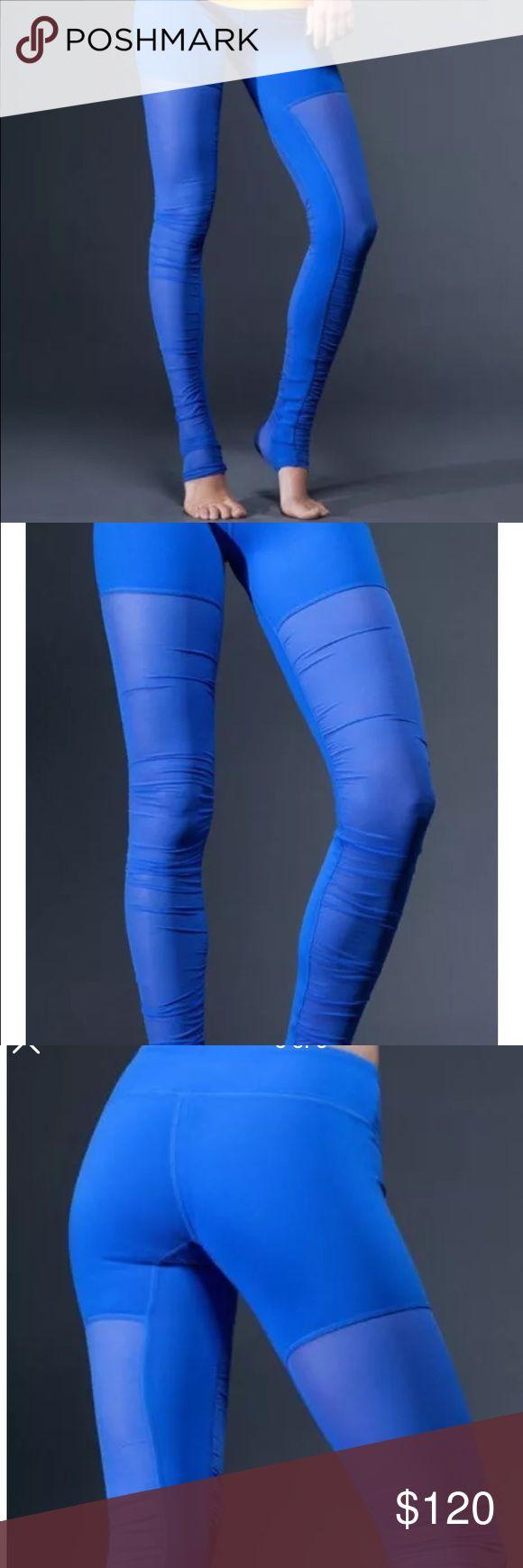 Alo goddess leggings NWT bright blue yoga large L New with tags bright blue mesh legging. Alo yoga. Alo goddess leggings  size large ALO Yoga Pants Leggings