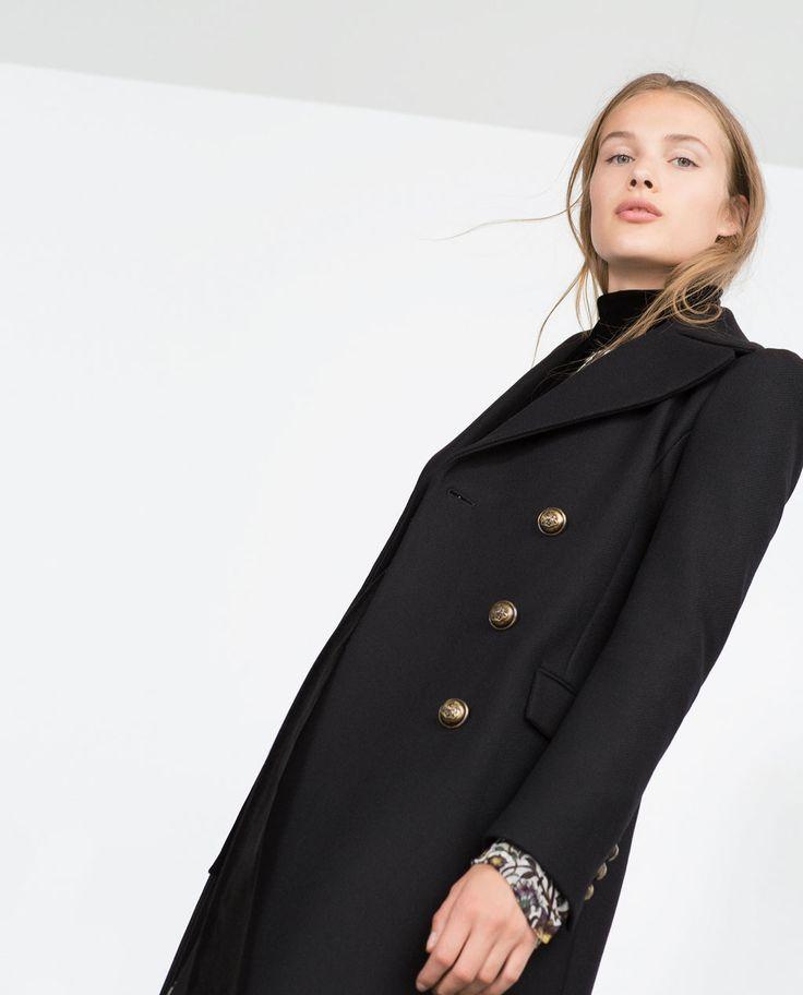 manteau femme officier zara