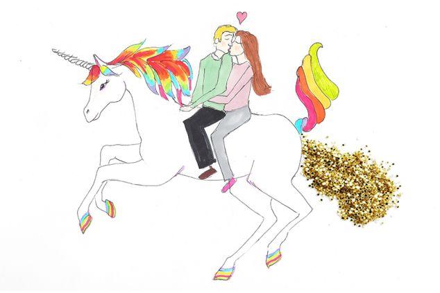 Unicorn farts glitter