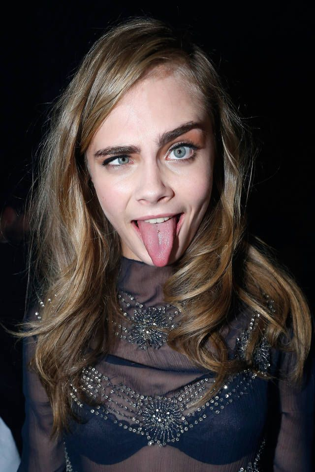 The evolution of models making silly faces. From Lauren Hutton to Kate Moss to Cara Delevingne....