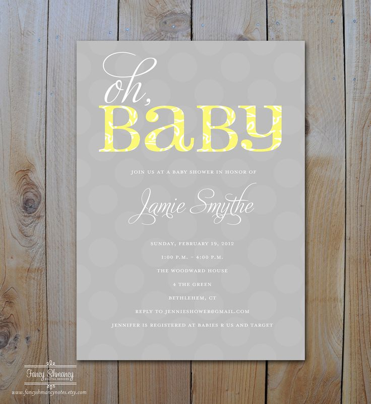 Yellow And Gray Baby Shower Invitations is the best ideas you have to choose for invitation example