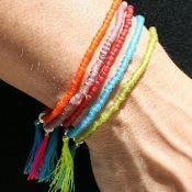 Splash of Colour Tassel Bracelet