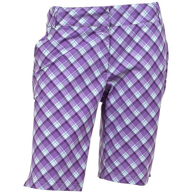 AUR Plaid Womens Golf Shorts Wisteria Plaid -- only i would just wear them out - not for golf..