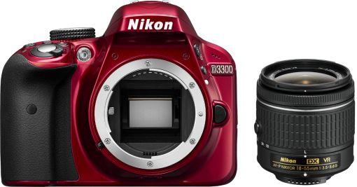 Nikon D3300, AF-P VR DX 18-55 mm, rot günstig kaufen - APS-C Spiegelreflexkamera | Media Markt Online Shop