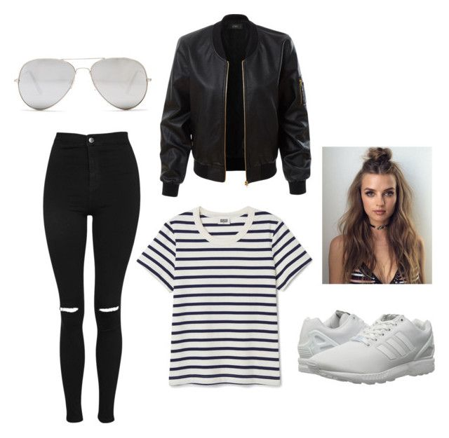 """""""Untitled #58"""" by parvanitagis on Polyvore featuring Topshop, LE3NO, adidas Originals and Sunny Rebel"""