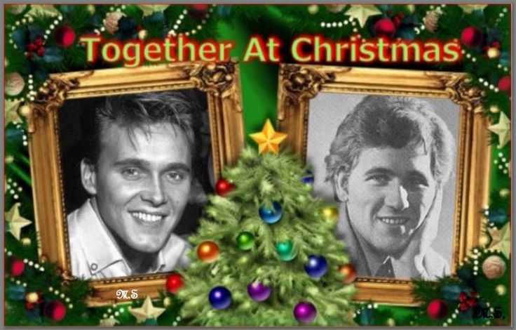 Billy Fury with his brother Albie by Maureen Spurr.