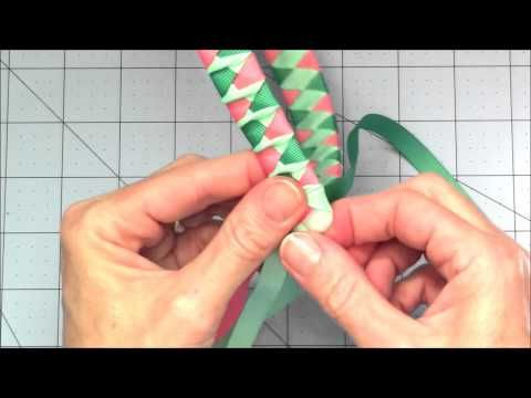 como tejer diademas en cintas faciles trenzado para decorar diademas video No.199 - YouTube