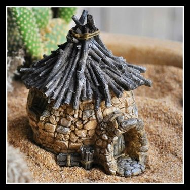 Miniature Troll's Hut With Twig Roof
