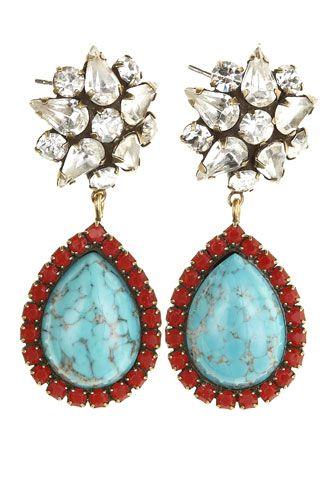 Calypso x DANNIJO: Drop Earrings, Rhinestones Earrings, Calypso St., Dannijo Calypso, Dannijo Adriana, Jewelry Accessories, Adriana Drop, Fashion Jewelry, Calypso Barth