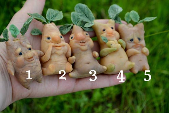 Mandrake sculpture  mandragora doll  magic plant  ooak