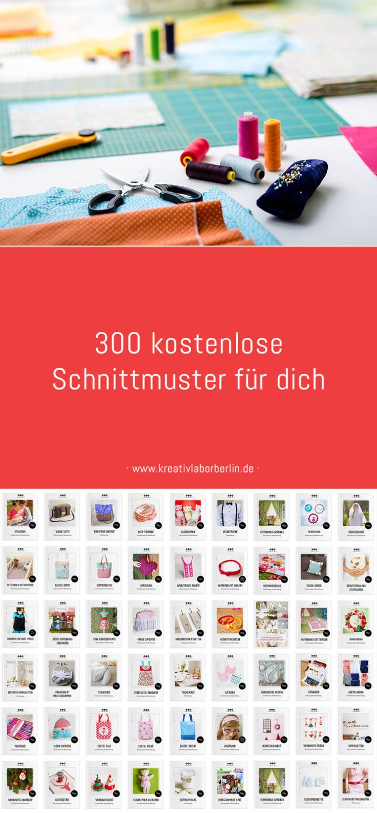 Now sewed: 300 free patterns for you