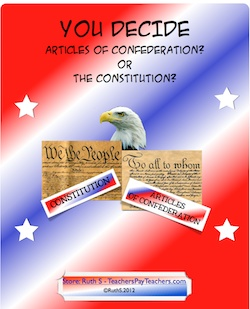 Why were the Articles of Confederation written and why were they replaced by the Constitution? Differentiated activities that make kids think out of the box!