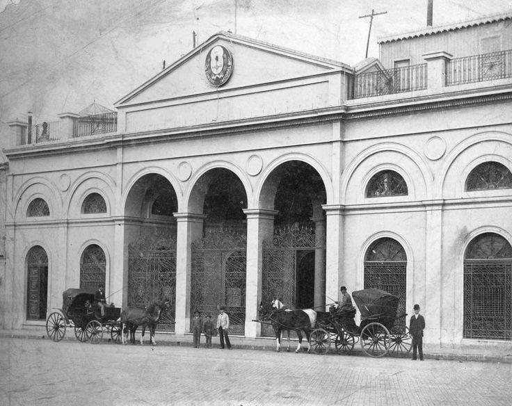 Bs. As., Vista del Congreso antiguo, en Balcarce y Victoria -actual H. Yrigoyen - donde funcionó hasta 1907