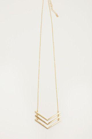 Jules Chevron Gold Necklace