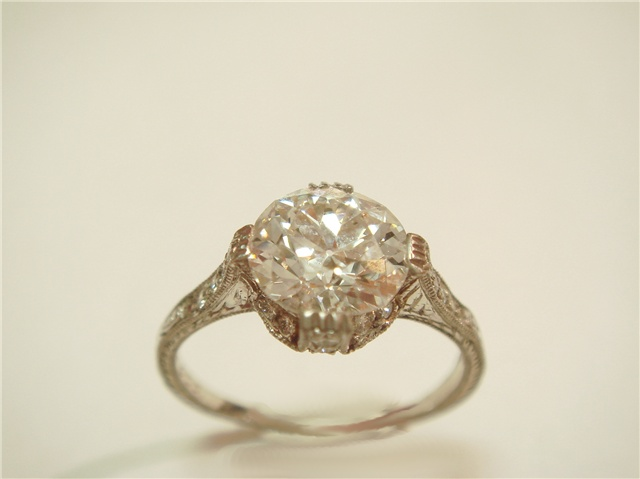 Antique tiffany co diamond ring i do pinterest for Do jewelry stores finance engagement rings