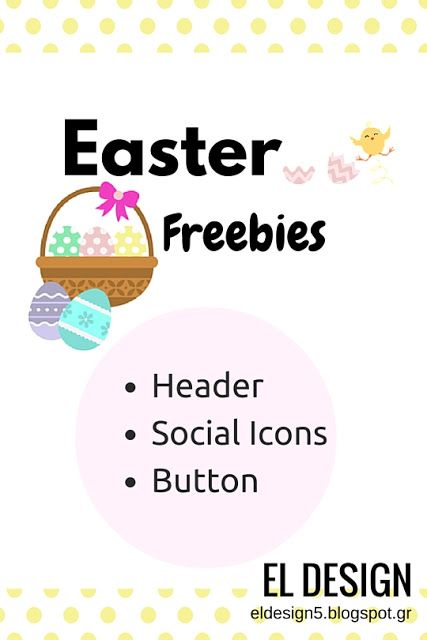 Easter Freebies [Header,Social Icons,Button] ║BONUS : Printable Card