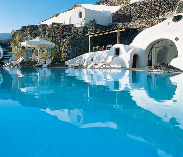 I want to be here. Santorini, Greece: Santorini Greece, Perivola, Dreams, Resorts, Islands, Places, Honeymoons, Pools, Luxury Hotels
