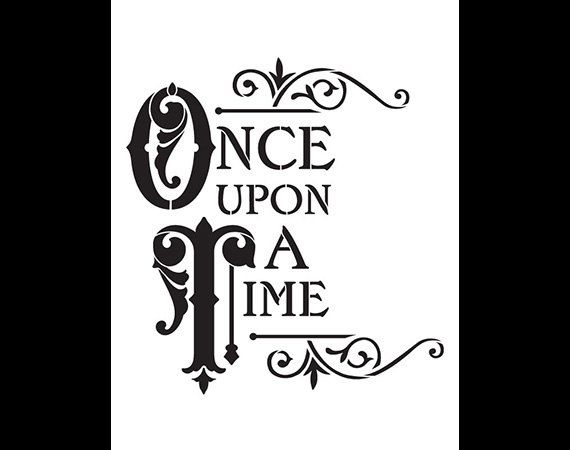 Once Upon A Time Word Art Stencil - 8.5 x 11 by StudioR12 A fantasy-themed stencil thats perfect for an enchanted sign, wall, book cover, keepsake