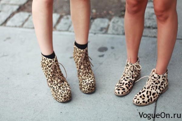 Леопардовая обувь