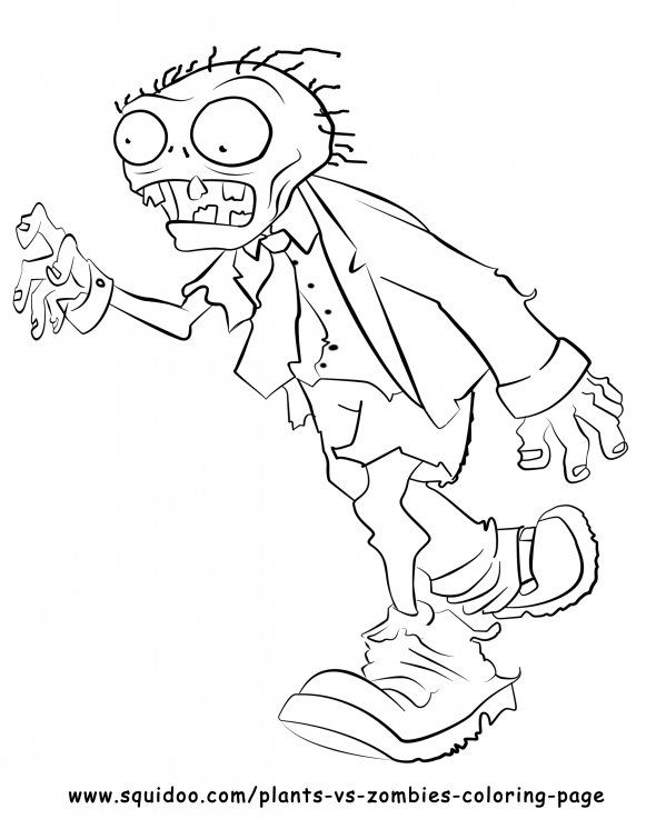 plants vs zombies coloring pages for kids - Black Ops Zombies Coloring Pages