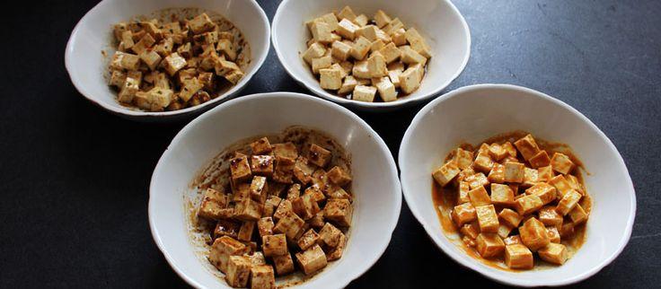 tofu mariné vegan