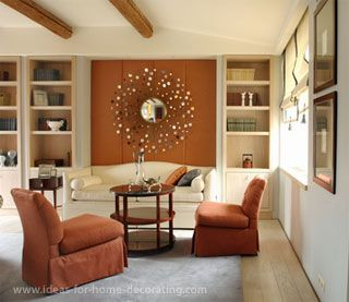 17 best ideas about brown accent wall on pinterest brown - Burnt orange feature wall living room ...