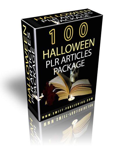100 Halloween PLR Articles Package
