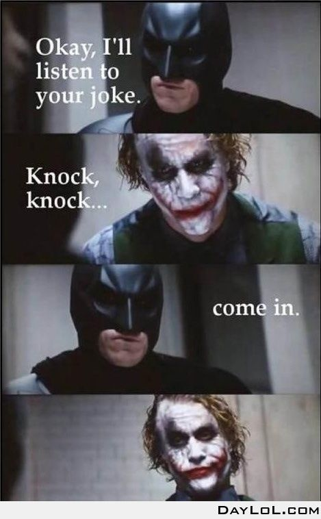 Batman is a joker. Laughed a little too hard at this hah