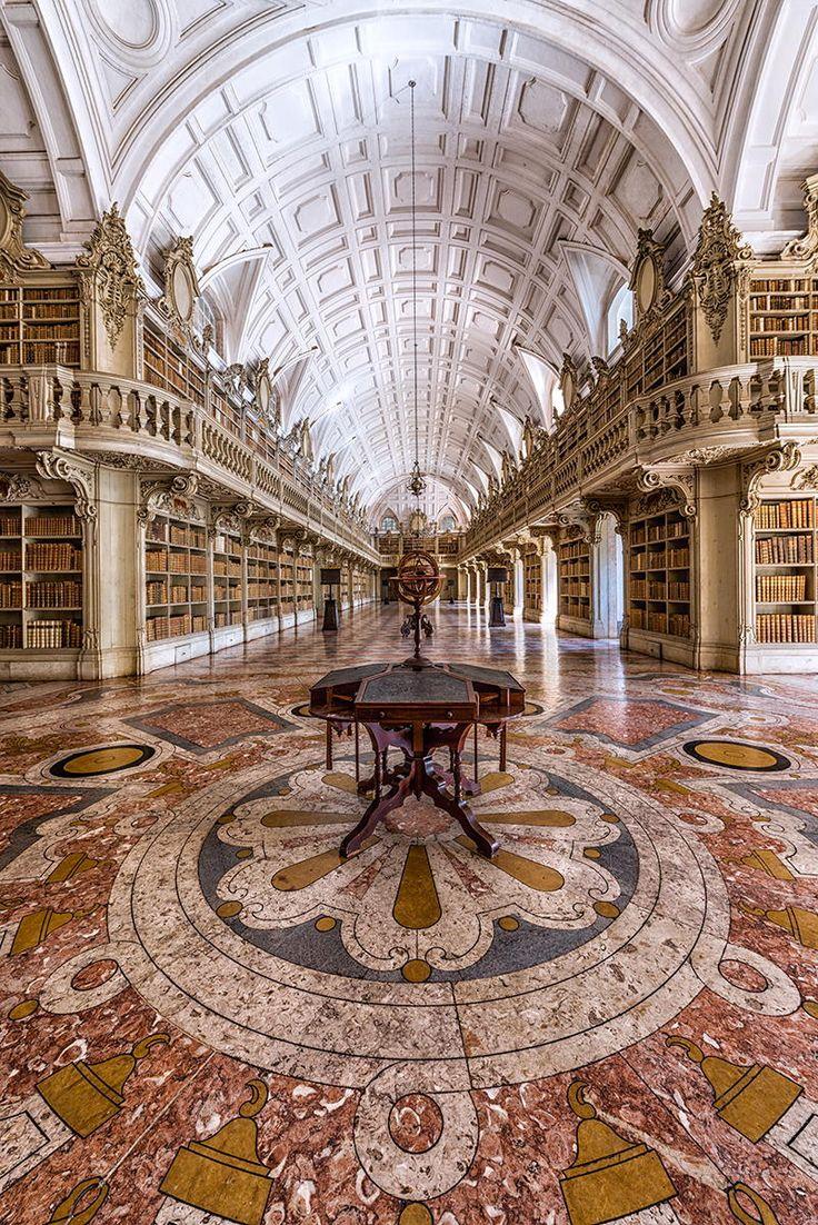 Library at Mafra National Palace, Portugal