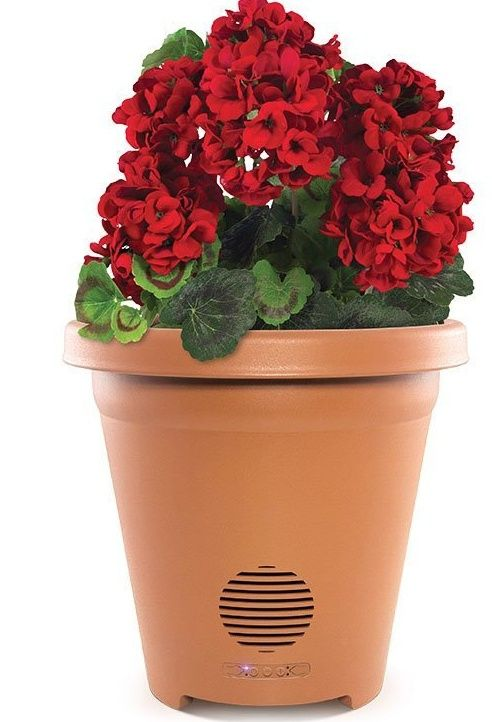 a Planter like this - -  Speaker Wireless Outdoor Speaker with Weather